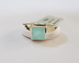 Chalcedony 925 Sterling silver ring #313