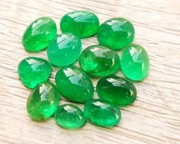9.00 Ct Natural Greenish Small Emerald Cabochons