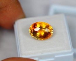 5.80ct Natural Yellow Citrine Oval Cut Lot GW1781