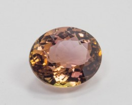 5.87ct Pink/Orange Tourmaline Oval Cut
