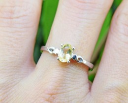 N/R Natural Citrine 925 Sterling Silver Ring Size 7.5 (SSR0395)