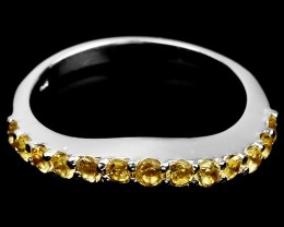 13.5ct Yellow Citrine 925 Sterling Silver Ring US 8