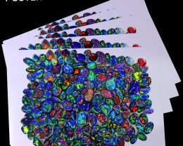 5 POSTER OF SEDAOPALS BLACK OPAL COLLECTION.