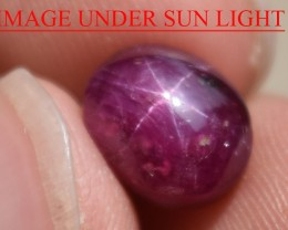 5.66 Ct Star Ruby CERTIFIED Beautiful Natural Unheated Untreated
