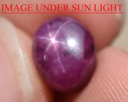 5.67 Ct Star Ruby CERTIFIED Beautiful Natural Unheated Untreated