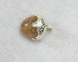 NATURAL UNTREATED RUTILATED QUARTZ PENDANT 925 STERLING SILVER JE300