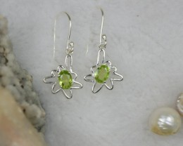 NATURAL UNTREATED PERIDOT EARRINGS 925 STERLING SILVER JE301