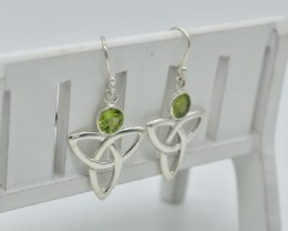 NATURAL UNTREATED PERIDOT EARRINGS 925 STERLING SILVER  JE307