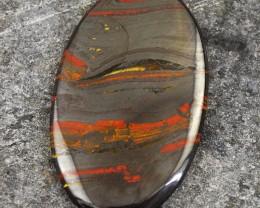 Genuine 102.50 Cts Oval Shape Iron Tiger Eye Gem