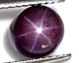 African Star Ruby 2.70ct Beautiful Deep Pink Maroon Cabochon NR