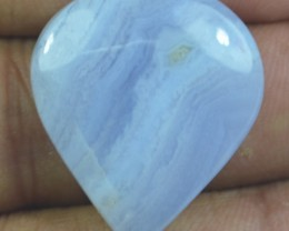 32.35 CT BLUE LACE AGATE  BEAUTIFUL NATURAL CABOCHON x17-88