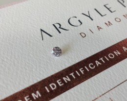 0.23ct 9PP Si1 Certified Argyle Pink Diamond
