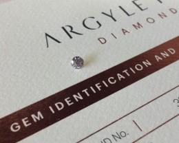 0.20ct 8P P1 Certified Argyle Pink Diamond