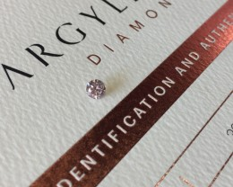 0.20ct 7PR+ P1 Certified Argyle Pink Diamond