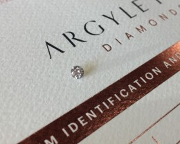 0.18ct PCE Si2 Certified Argyle Pink Diamond