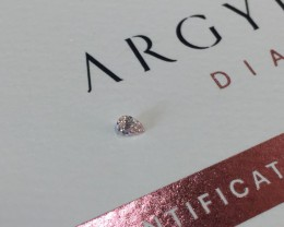 0.09ct PCE SIAV Certified Argyle Pink Diamond