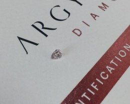0.08ct PCE SIAV Certified Argyle Pink Diamond
