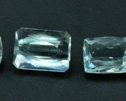 12.30 cts different shapes cut 4 pcs Untreated Aquamarine Loose gemstones f