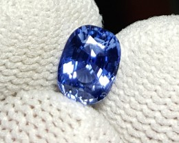 UNHEATED CERTIFIED 1.08 CTS NATURAL BEAUTIFUL STUNNING CORNFLOWER BLUE SAPP