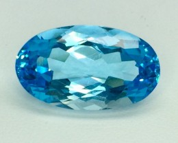14.72 Crt Natural Topaz Beautifulest Facetted Gemstone. (T 19)
