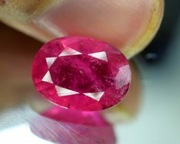 No Reserve - 4.85 cts Oval Cut Untreated Rubellite Tourmaline Gemstone From