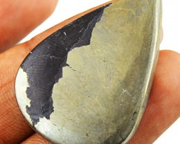 Genuine 59.00 Cts Untreated Golden Pyrite Pear Shape Gem