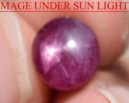 4.47 Ct Star Ruby CERTIFIED Beautiful Natural Unheated Untreated