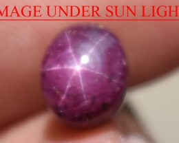 3.20 Ct Star Ruby CERTIFIED Beautiful Natural Unheated Untreated