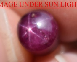 3.64 Ct Star Ruby CERTIFIED Beautiful Natural Unheated Untreated