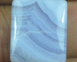 15.15 CT BLUE LACE AGATE  BEAUTIFUL NATURAL CABOCHON x17-93