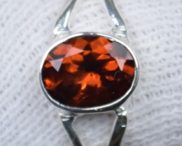 NATURAL UNTREATED GARNET RING 925 STERLING SILVER JE339