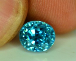 No Reserve - 1.90 cts Full Color Beautifull Oval Zircon Gemstone From Combo