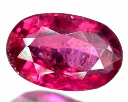 No Reserve - 2.70 cts Oval Cut Untreated Rubellite Tourmaline Gemstone From