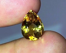 5.95 cts Flawless Citrine - Brazil - Top Color!