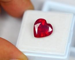 5.06ct Natural Ruby Heart Cut Lot V1761
