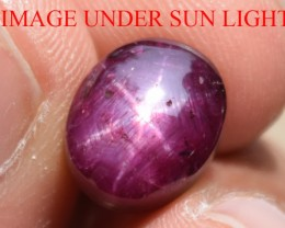 8.91 Ct Star Ruby CERTIFIED Beautiful Natural Unheated Untreated