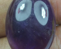 21.85 CT NATURAL UNTREATED AMETHYST CABOCHON X21-72