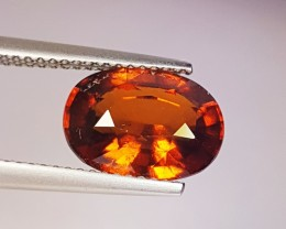 "4.51 Ct "" IGI Certified "" Top Quality Oval Cut Natural Hessonite"