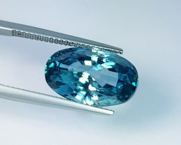 "12.75 ct ""IGI Certified"" Excellent Oval Cut Natural Blue Zircon"