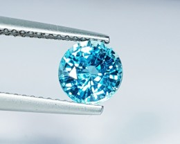 "1.94 ct ""IGI Certified"" Wonderful  Round Cut Natural Blue Zircon"