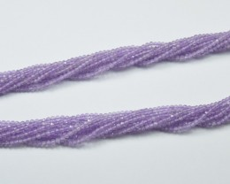 100% NATURAL AUTHENTIC AMETHYST FACETED RONDELLE BEADS (1 STRAND ONLY