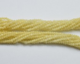 100% NATURAL AUTHENTIC CALCITE FACETED RONDELLE BEADS (1 STRAND ONLY