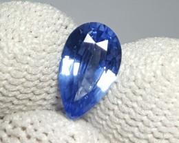UNHEATED CERTIFIED 1.21 CTS NATURAL BEAUTIFUL BLUE SAPPHIRE CEYLON SRI LANK