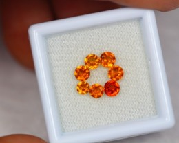 1.71ct Natural Hessonite Garnet Round Cut Lot GW1806