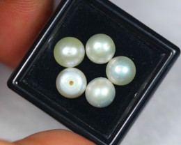 10.45Ct Natural Fresh Water Drill Pearl Lot GW1810