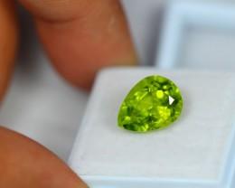 5.19Ct Natural Green Peridot Pear Cut Lot LZ826