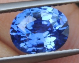 2.52cts, Certified Sapphire,  Pure Blue,  Heat Only,  Clean