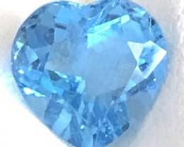 3.30ct Pretty Bright Blue Heart Shap0e Topaz - G33
