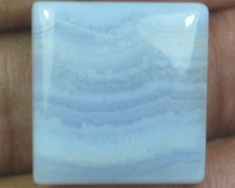 21.50 CT BLUE LACE AGATE  BEAUTIFUL NATURAL CABOCHON x17-96
