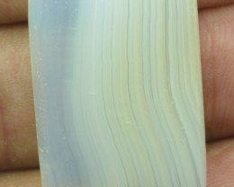 33.35 CT LACE AGATE BEAUTIFUL CABOCHON (NATURAL+UNTREATED) X19-46